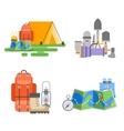 Trip design elements travel vector image vector image