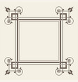 vintage square frame vector image vector image