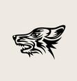 wolf face logo vector image