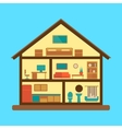 House section plan flat style colorful vector image