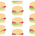 Seamless pattern of fast food cartoon burger vector image