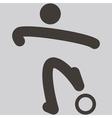 2271 football icon vector image