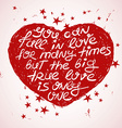 Love With Shape Of Heart vector image