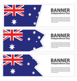 australia flag banners collection independence day vector image vector image