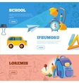back to school web banners set vector image vector image