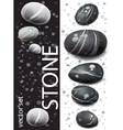 Black and white stones vector | Price: 3 Credits (USD $3)