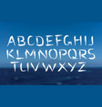 brush font bold letters on sea background vector image