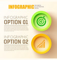 business options infographic concept vector image