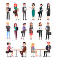 business people collection vector image