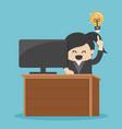 businesswomen have a good idea eps vector image vector image