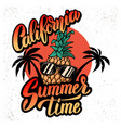 california summer time emblem template with vector image vector image