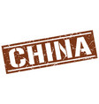 china brown square stamp vector image vector image