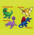 collection of cartoon baby dinosaurs vector image