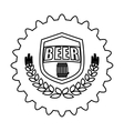 contour beer cap emblem icon image vector image vector image