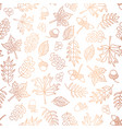 copper foil autumn leaves background tile vector image vector image