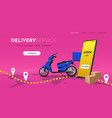 delivery landing online food and goods mobile vector image