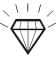 diamond icon on white background vector image vector image