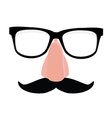 Disguise glasses nose and mustache vector image vector image