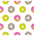 donuts sugar glazed seamless pattern vector image