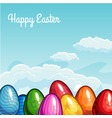 Easter greeting with eggs