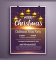 elegant merry christmas party flyer invitation vector image vector image