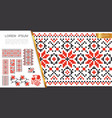 embroidered slavic stitch patterns concept vector image