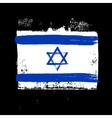 flag israel on a black background vector image vector image