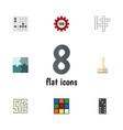 flat icon games set of poker gomoku bones game vector image vector image