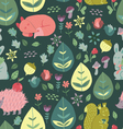 Forest Friends Cute seamless pattern vector image vector image
