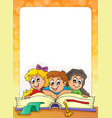 frame with pupil theme 3 vector image vector image