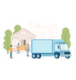 furniture delivery service concept flat vector image
