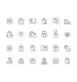 gifts packages holiday boxes present icons vector image
