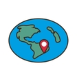 globe location pointer map vector image