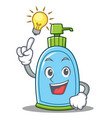 have an idea liquid soap character cartoon vector image vector image