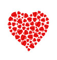 heart made of hand drawn red hearts vector image