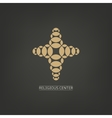Isolated cross logo with golden elements Religion vector image vector image