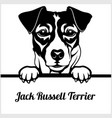 jack russell terrier - peeking dogs - - breed face vector image vector image