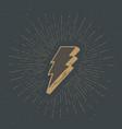 lightning vintage label hand drawn sketch grunge vector image