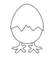 line art black and white new chick is born vector image vector image