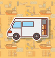 logistic delivery truck with cardboard boxes vector image