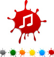 Music blot vector image