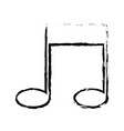note music melody sound artistic sketch vector image vector image