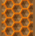 ornament with small yellow hexagons hexagonal vector image