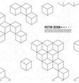 pattern cubes vector image vector image