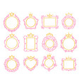 princess frame cute crown border royal mirror vector image vector image