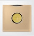 Realistic vinyl record with carton cover retro