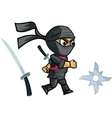 Running Ninja Game Sprite vector image