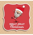 Santa claus cute frame character icon
