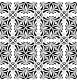 Seamless Black White Monochrome Vintage Pattern vector image vector image