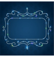 shiny luxe frame with sparkling diamonds vector image vector image